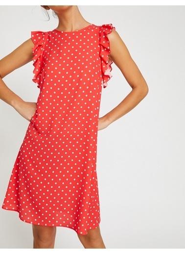 Koton Puantiyeli Elbise Kırmızı